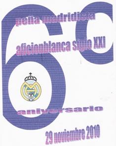 6º ANIVERSARIO PEÑA MADRIDISTA AFICIONBLANCA SIGLO XXI. ALHAMA DE ALMERIA
